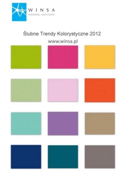 Ślubne Trendy kolorystyczne 2012 - paleta barw
