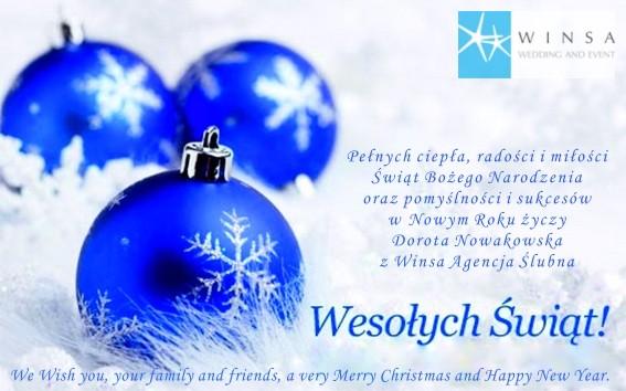 Życzenia Świąteczne, Życzenia na Boże Narodzenie, Christmas Wishes - Winsa Wedding Planning Agency