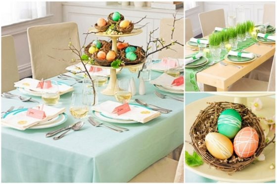 Dekoracje na Wielkanoc, dekoracje stołów, Wielkanocne dekoracje, Ślub i Wesele na Wielkanoc
