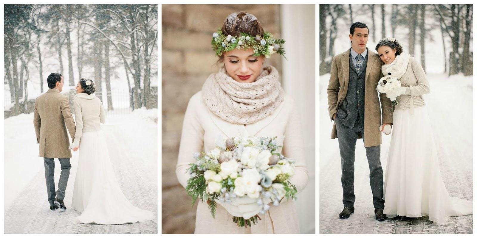 Zimowy ślub Okrycia Wierzchnie Dla Panny Młodej