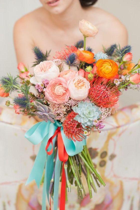 Jesienne bukiety ślubne, modny bukiet ślubny na jesień, ślub i wesele na jesień