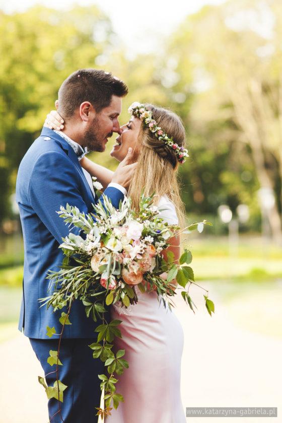 Ślub polsko francuski, ślub międzynarodowy, Pałac Goetz ślub w plenerze, Para Młoda