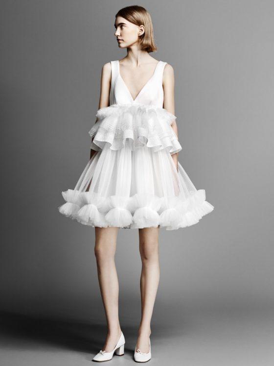 Krótkie suknie ślubne, krótka suknia ślubna 2019, 1