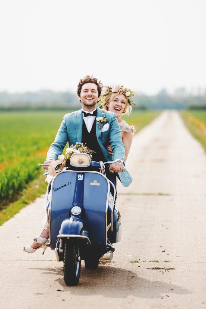 Vespa do ślubu, pojazd do ślubu, skuter do ślubu
