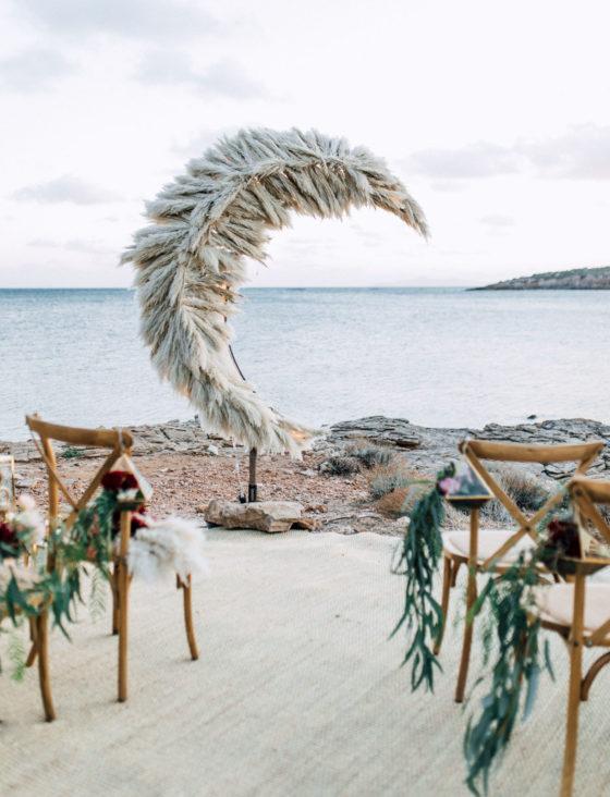 Ślub i wesele 2019, trendy ślubne 2019, trawa pampas na ślubie